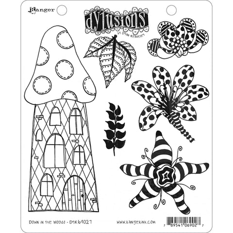 Dylusions by Dyan Reaveley - Rubber Stamps - Down in the Woods