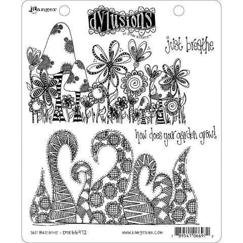 Just Breathe - 2 Large Cling Rubber Stamps ... by Dyan Reaveley of Dylusions