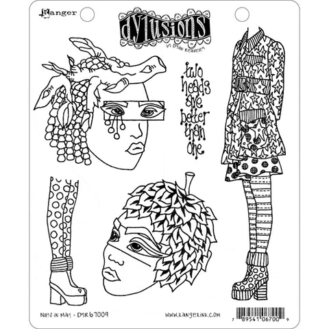 Nuts in May - 5 Cling Rubber Stamps ... by Dyan Reaveley of Dylusions