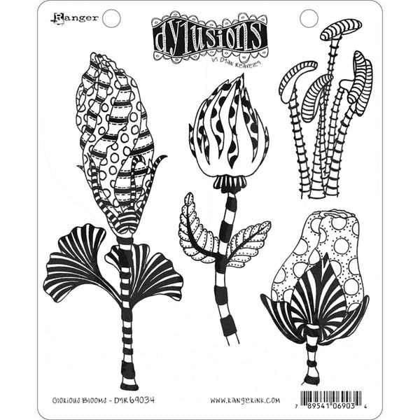 Dylusions by Dyan Reaveley - Rubber Stamps - Glorious Blooms