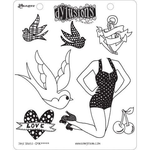 Dylusions Cling Rubber Stamps - Jays Jollies