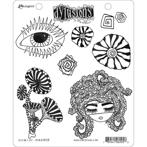 Dylusions by Dyan Reaveley - Rubber Stamps - Ocean Life