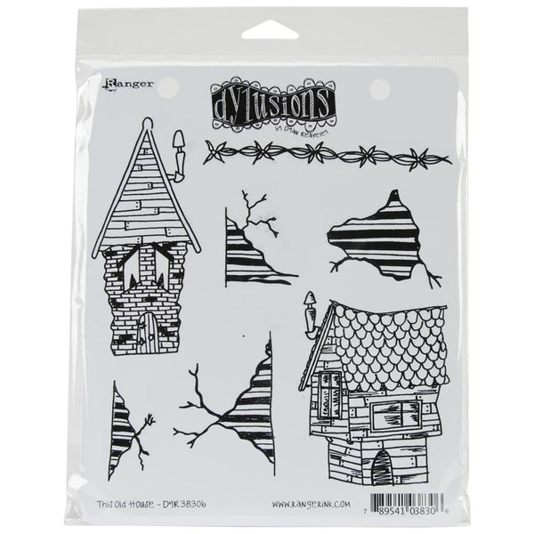 Dylusions by Dyan Reaveley Cling Rubber Stamps - This Old House