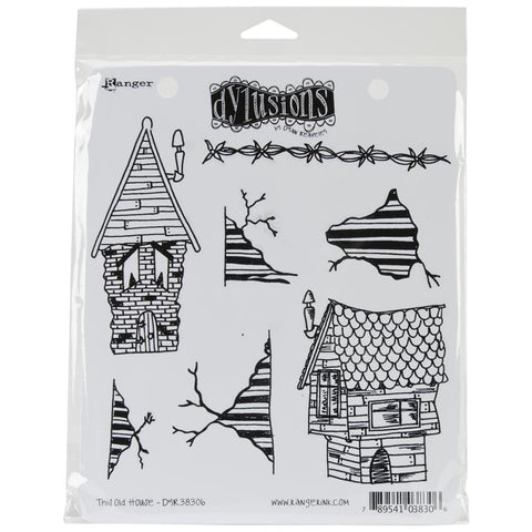 Dylusions Cling Rubber Stamps - This Old House