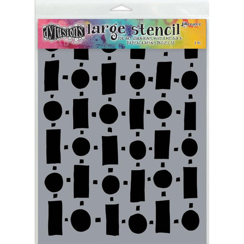 Retro Dylusions by Dyan Reaveley Art Stencil, Large 9x12 A4