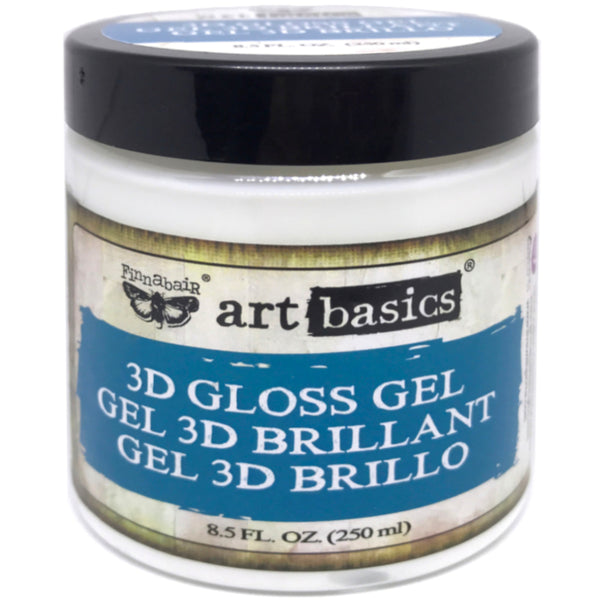 3D Gloss Gel ... a transparent, glossy, heavy body acrylic medium - Finnabair Art Basics by Prima Marketing