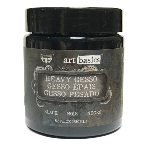 Black Heavy Gesso ... an opaque, black, matte ground for priming a surface - Finnabair Art Basics by Prima Marketing