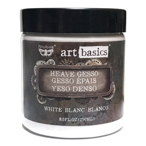 White Heavy Gesso ... an opaque, white, matte ground for priming a surface - Finnabair Art Basics by Prima Marketing