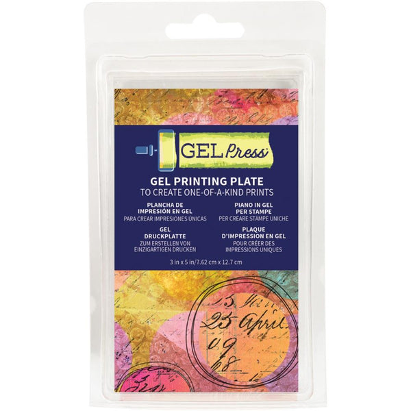 "Gel Press Small 3x5 Rectangle Monoprinting Printing Plate - Size is 3""x5"" (7.6cm x 12.7cm)"
