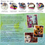 Gel Press Printing Plates at Art by Jenny in Australia - basic instructions