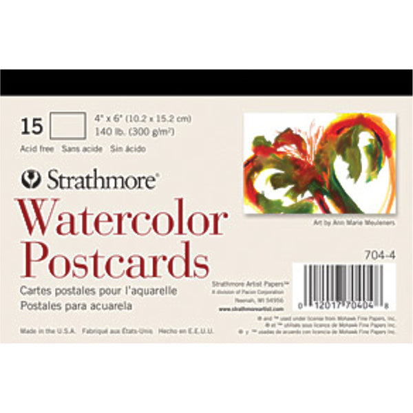 Strathmore blank postcards made of watercolour card
