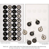 examples of Idea-Ology Metal Type Charms by Tim Holtz