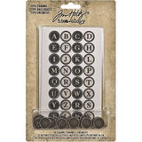 Idea-Ology Metal Type Charms by Tim Holtz and Advantus 16 round pendants