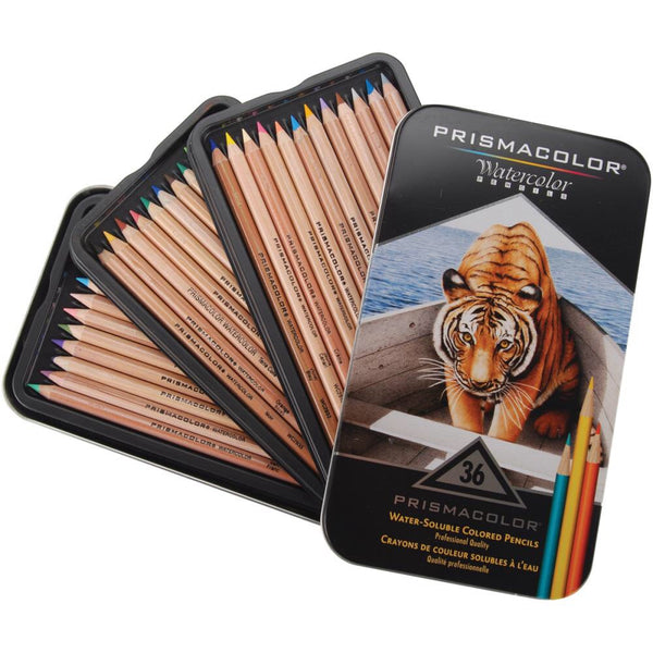 Prismacolor watercolour or aquarelle pencils, set of 36