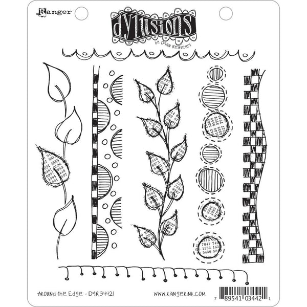 Around the Edge ... rubber stamp set from Dylusions by Dyan Reaveley