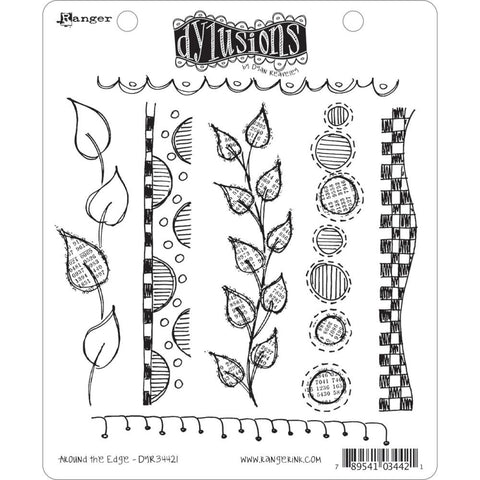 Dylusions Cling Rubber Stamps - Around the Edge