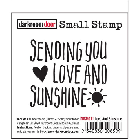"Quote stamp ""sending you love and sunshine' by Darkroom Door"