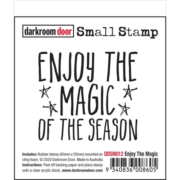 Quote 'enjoy the magic of the season' Darkroom Door