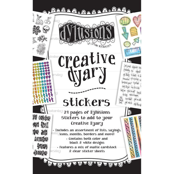Dylusions Creative Dyary Sticker Book - 24 Pages