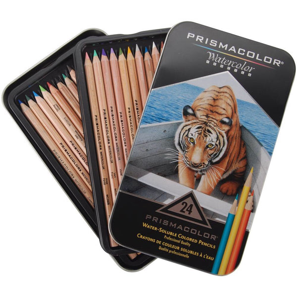 Prismacolor watercolour or aquarelle pencils, 24 pencil set