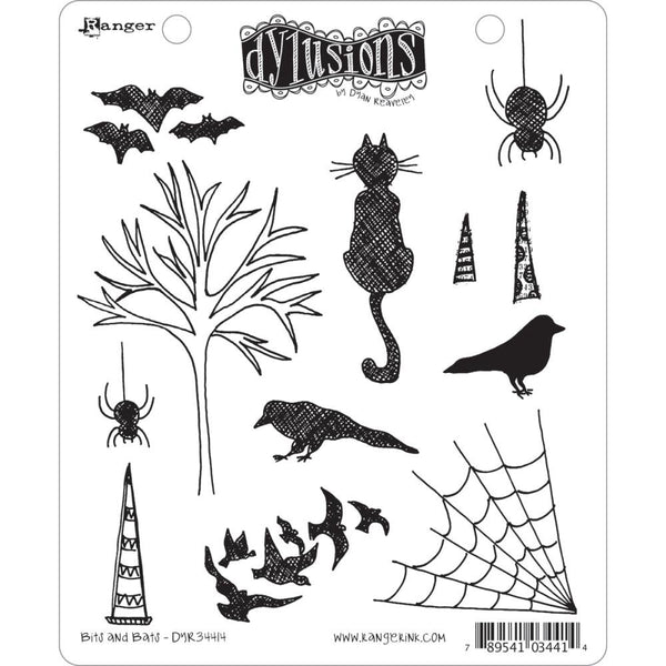 Dylusions Cling Rubber Stamps - Bits and Bats