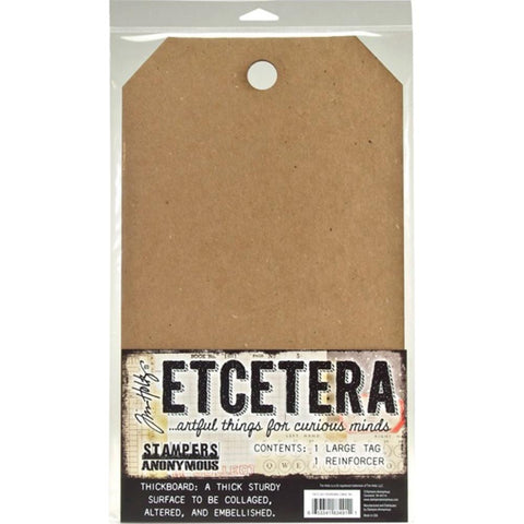 Tim Holtz Etcetera thickboard tag