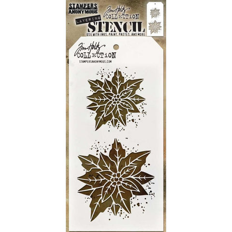 Tim Holtz Layering Stencil - Poinsettia Duo - NEW!