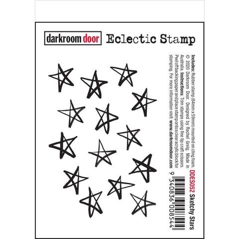Sketchy Stars Darkroom Door Rubber Stamp