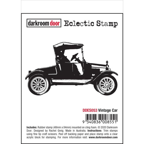 Vintage Car Darkroom Door Rubber Stamp
