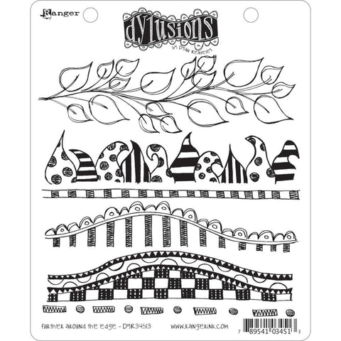 Dylusions Cling Rubber Stamps - Further Around the Edge