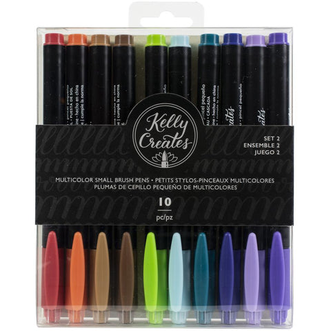 Kelly Creates - Brush Pens - Small Tip - Set 2 Vintage - 10 Colours