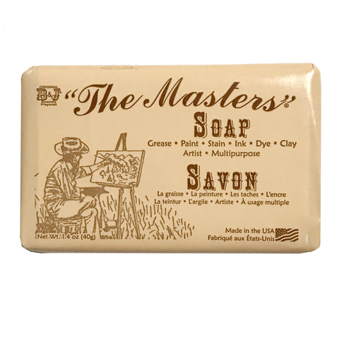 The Masters Artist Soap, small ... all purpose cleanser that removes paint, stain, ink, dye and grease.