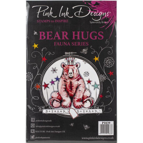 cover of the Bear Hugs Pink Ink Designs Stamp Set for sale at Art by Jenny in Australia