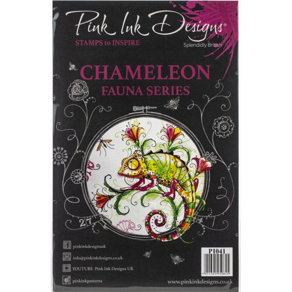 Chameleon Fauna Series Clear Stamps by Pink Ink Designs UK