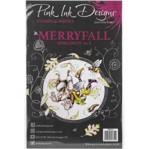 cover for the Merryfall Pink Ink Designs Stamp Set for sale at Art by Jenny in Australia