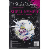cover of the Shell Nymph Pink Ink Designs Stamp Set for sale at Art by Jenny in Australia