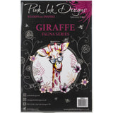 cover of the Giraffe Pink Ink Designs Stamp Set for sale at Art by Jenny in Australia