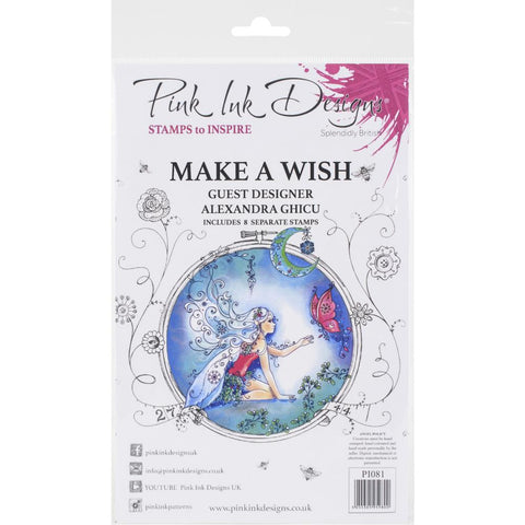 Make A Wish cling stamp set - by Pink Ink Designs with guest designer, Alexandra Ghicu