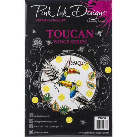 Toucan Wings Series Clear Stamps by Pink Ink Designs UK
