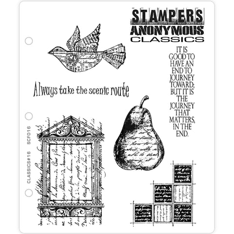 Stampers Anonymous Classics - Rubber Stamps - Set 16 - Scenic Route
