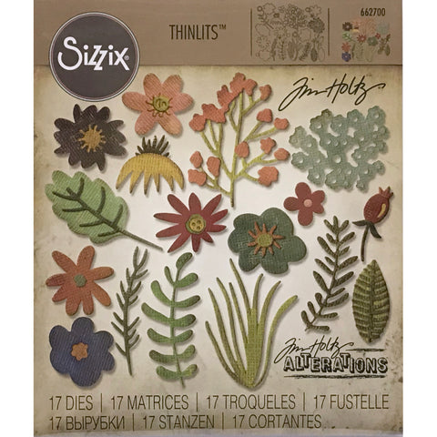 Funky Florals #1 by Tim Holtz Alterations