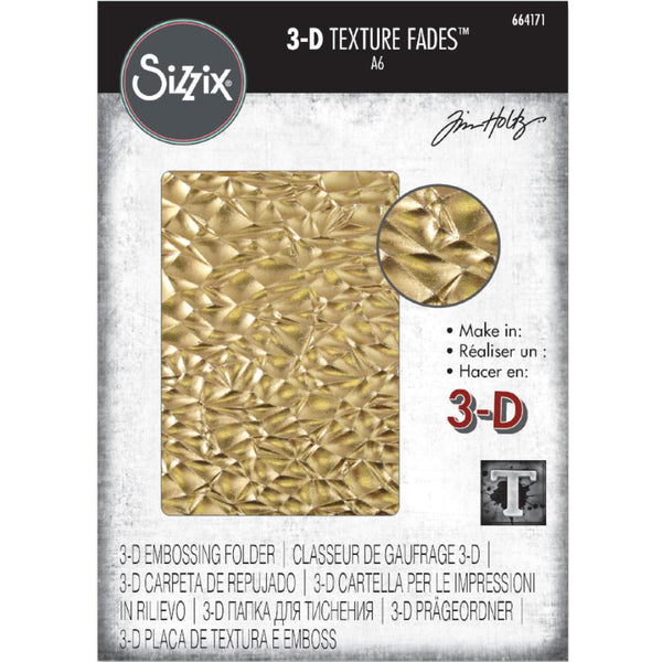 Tim Holtz Texture Fades 3D Embossing Folder by Sizzix - Crackle