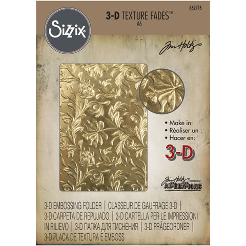 Tim Holtz 3D Texture Fades by Sizzix - Embossing Folder - Botanical