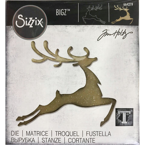 Tim Holtz Bigz Die Cutting Template by Sizzix - Reindeer