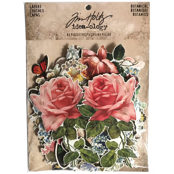 Botanical Idea-Ology Layers by Tim Holtz - sample pack and contents - October 2019