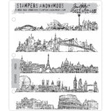 Cityscapes ... 5 (five) rubber stamps by Tim Holtz (CMS224)