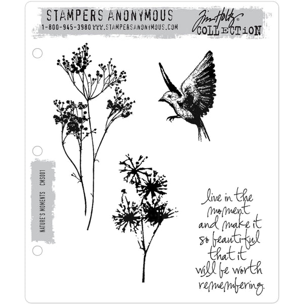 Tim Holtz Cling Stamps - Nature's Moments