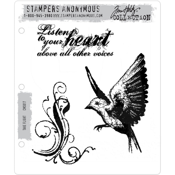 Tim Holtz Cling Stamps - Take Flight