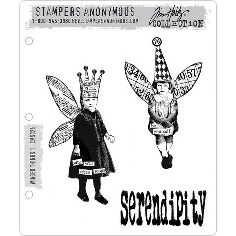 Tim Holtz Cling Stamps - Winged Things no.1