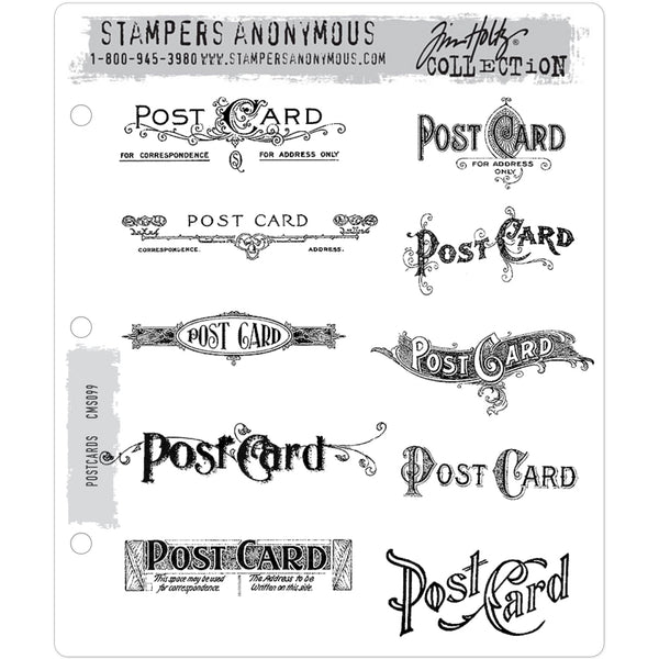 Tim Holtz art and craft stamps cms099 Postcards